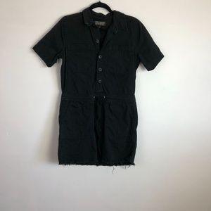Lucky Brand short sleeve denim shirt dress size Sm